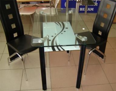 кухонные столы и стулья стеклянные фото и цены